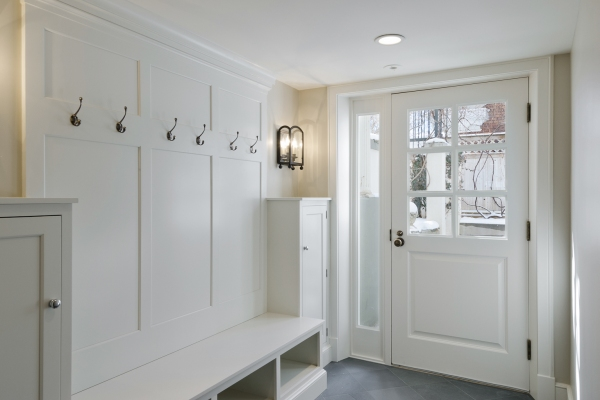 Mudroom in Federal Heights.  Remodeled by Cameo Homes Inc. in Utah.