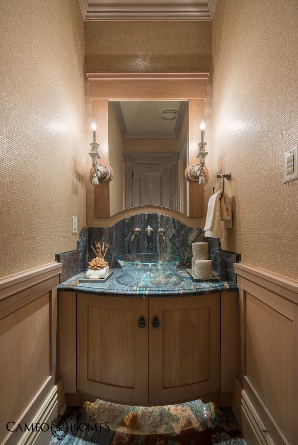 Powder Bathroom by Cameo Homes Inc.