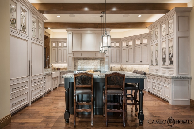 Spacious Kitchen by Park City Home Builder, Cameo Homes Inc.